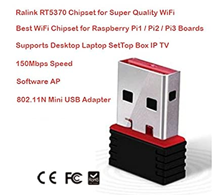 RaLink USB WiFi Receiver 150Mbps 802 11n Wireless Internet Dongle Supports  Windows Desktop, Laptop, Mac OS, Linux, IP TV Set(Black and Red,FX-5370)
