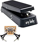 Dunlop Crybaby GCB-95 Classic Wah Pedal w/2 FREE Patch Cables