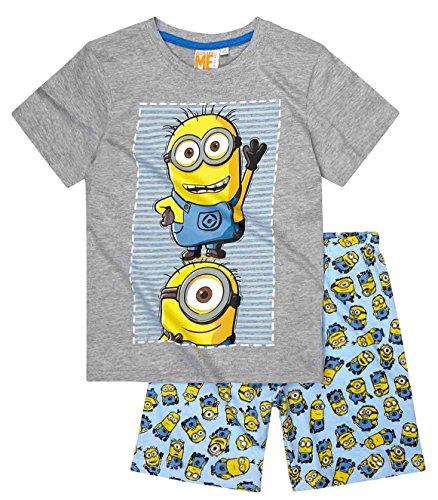 Minions Pyjama Kollektion 2016 Shortie 110 116 122 128 134 140 146 152 Shorty Kurz Schlafanzug Grau ( 110 - 116 , Grau)