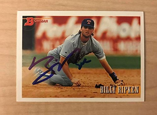 BILLY RIPKIN TEXAS RANGERS SIGNED AUTOGRAPHED 1993 BOWMAN CARD #517 W/COA