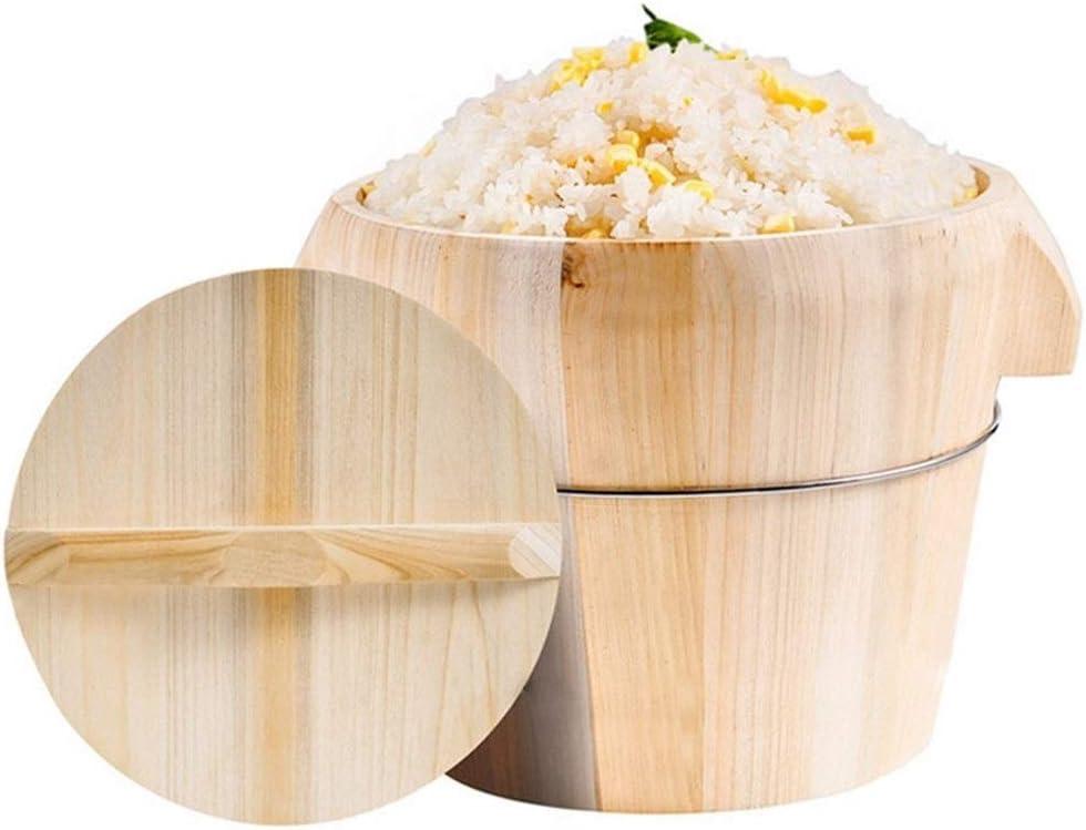 LZZR Dampfgarer aus Bambus, für die Küche, tragbar, Reisschale, Kantine, Restaurant, Gemüse, Fisch a E