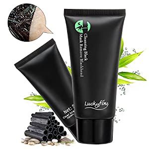 Black Mask - LuckyFine Facial Mask, Blackhead Remover Peeling Mask, Acne Treatments Mask, Deep Cleansing Purifying Black Mask
