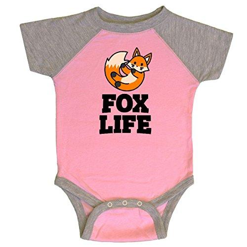 inktastic - Fox Life Infant Creeper Newborn Pink and Heather -