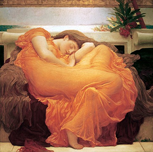 kunst für alle Art Print/Poster: Lord Frederick Leighton Flaming June Picture, Fine Art Poster, 39.4x39.4 inch / 100x100 cm
