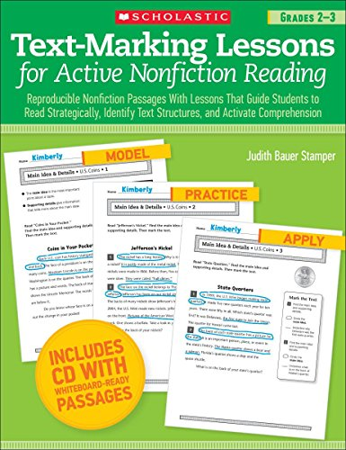 Text-Marking Lessons for Active Nonfiction Reading (Grades 2-3): Reproducible Nonfiction Passages With Lessons That Guid