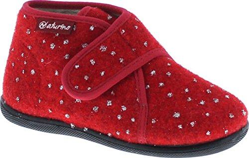 Naturino Girls 7452 Kids Natural Wool Warm Fashion House (Naturino Red Shoes)