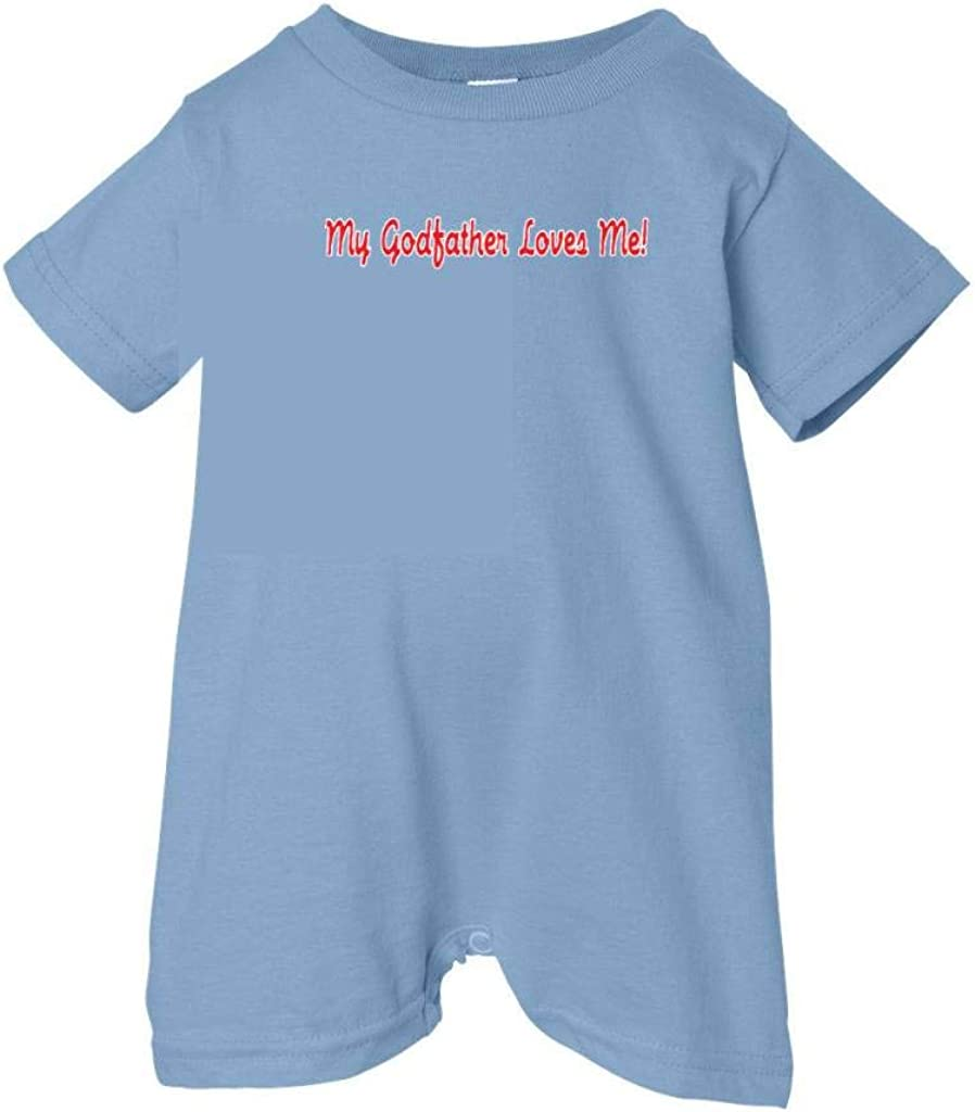 Unisex Baby My Godfather Loves Me T-Shirt Romper So Relative