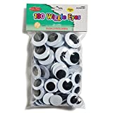 CHARLES LEONARD JUMBO WIGGLE EYES BLACK (Set of 6)