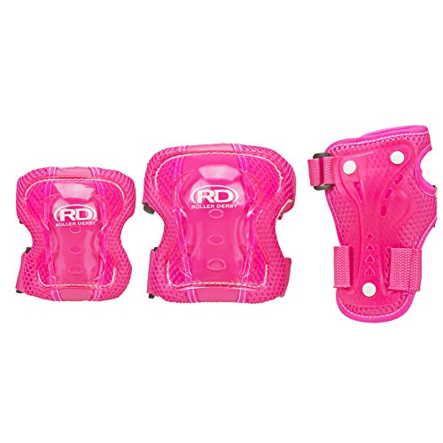 (Roller Derby Protective Tri Pack Girls Pink)