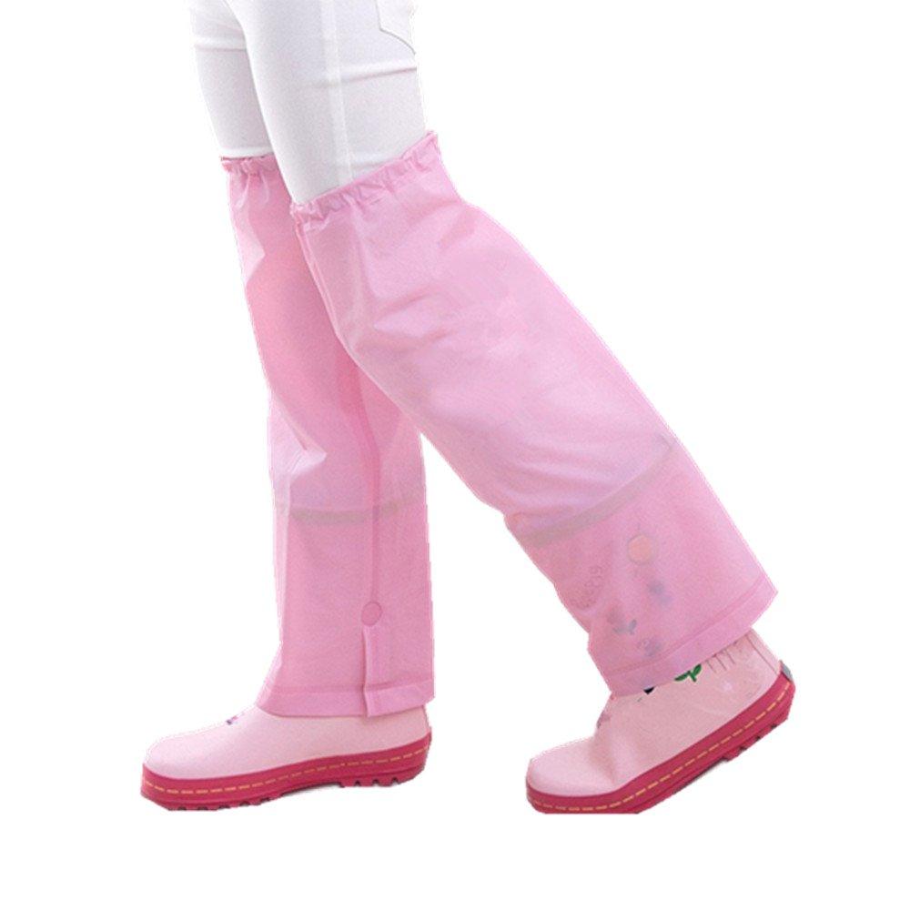 zhbotaolang Leg Gaiters Rain Pants Leg Boot Covers for Children Kids Boys Girls