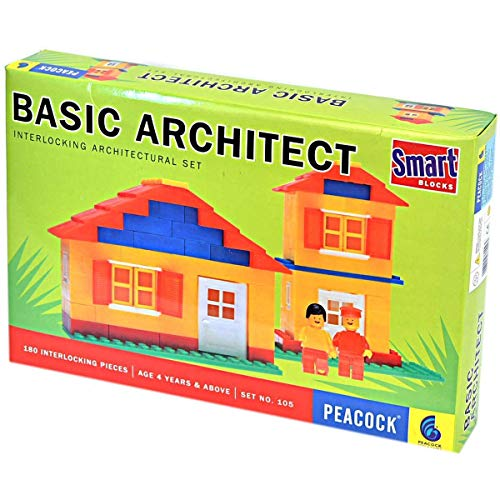 Lodestone Peacock Basic Architect Smart Block Set, 235 Pieces