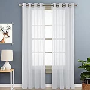 Nicetown Voile Panels Sheer Window Curtains