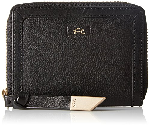 Foley + Corinna Square Cut Zip Around Wallet, Black, One Size