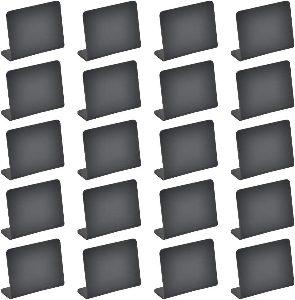 Pack de 20 mini letreros de pizarra de 10x7cm para comida fiesta panader/ía boda letreros de buffet para comida mesas buffet letreros de mesa peque/ña
