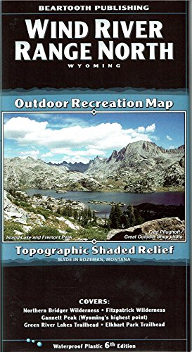Wind River Range North, Wyoming Outdoor Recreation Map