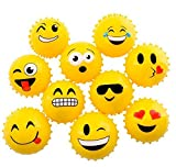 4'' EMOTICON KNOBBY BALL-YELLOW (100/cs), Case of 2