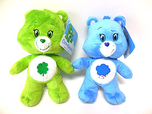 Grumpy Bear Plush (Care Bear Bears Grumpy Bear Good Luck Bear 2 Care Bears Set 8 inches)