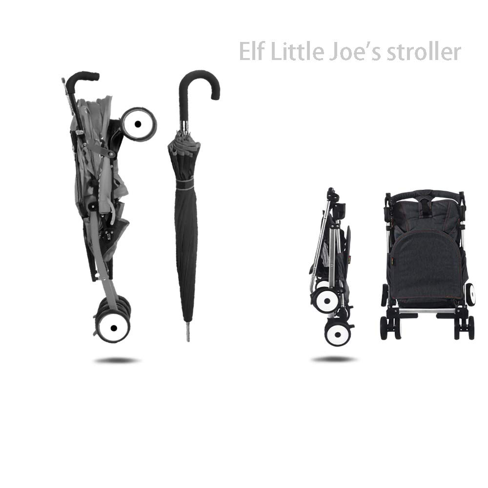 HKJCC Baby Stroller Can Sit and Lie Super Light Portable Folding Children High Landscape Hand Push Simple Can Be on The Plane Pocket Umbrella by HKJCC (Image #2)