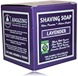 Organic Shaving Soap; Lavender; Unisex; Made W/Softening Butters & Oils; Org. Lavandin Essen. Oil; 5 in 1 (Shave Shampoo Cond. Body & Beard Soap)* Cert. Organic By Oregon Tilth; TWO 3.75 Ounce Bars