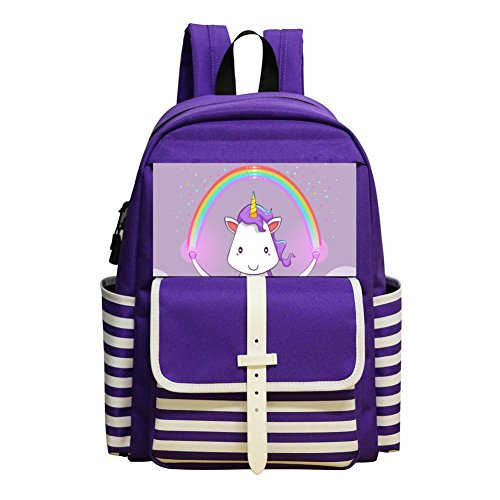 Unicorn Magic Raibow Children Kids Student School Bag School Backpack -