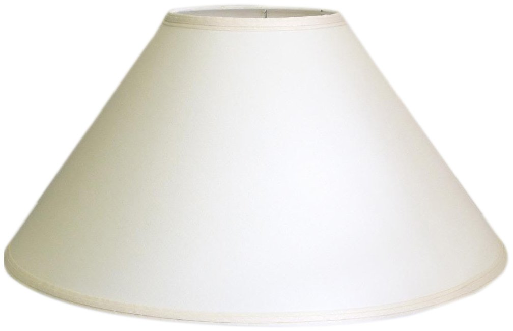 A Ray Of Light 72314OFF 7-Inch by 23-Inch by 14-Inch Linen Coolie Shade, Off White