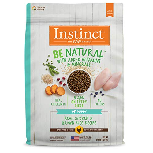 Instinct Be Natural Puppy Real Chicken & Brown Rice Recipe Natural Dry Dog Food by Nature's Variety, 24 lb. Bag