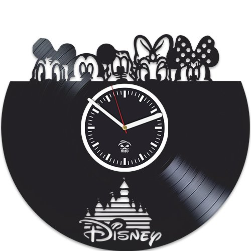 Walt Disney, Cartoons Movie, Vinyl Wall Clock, Best Gift for Girl, Mickey Mouse, Vinyl Record, Kovides, New Year Gift, Silent, Wall Sticker, Modern Wall Art, Pictures Castle Home Decor