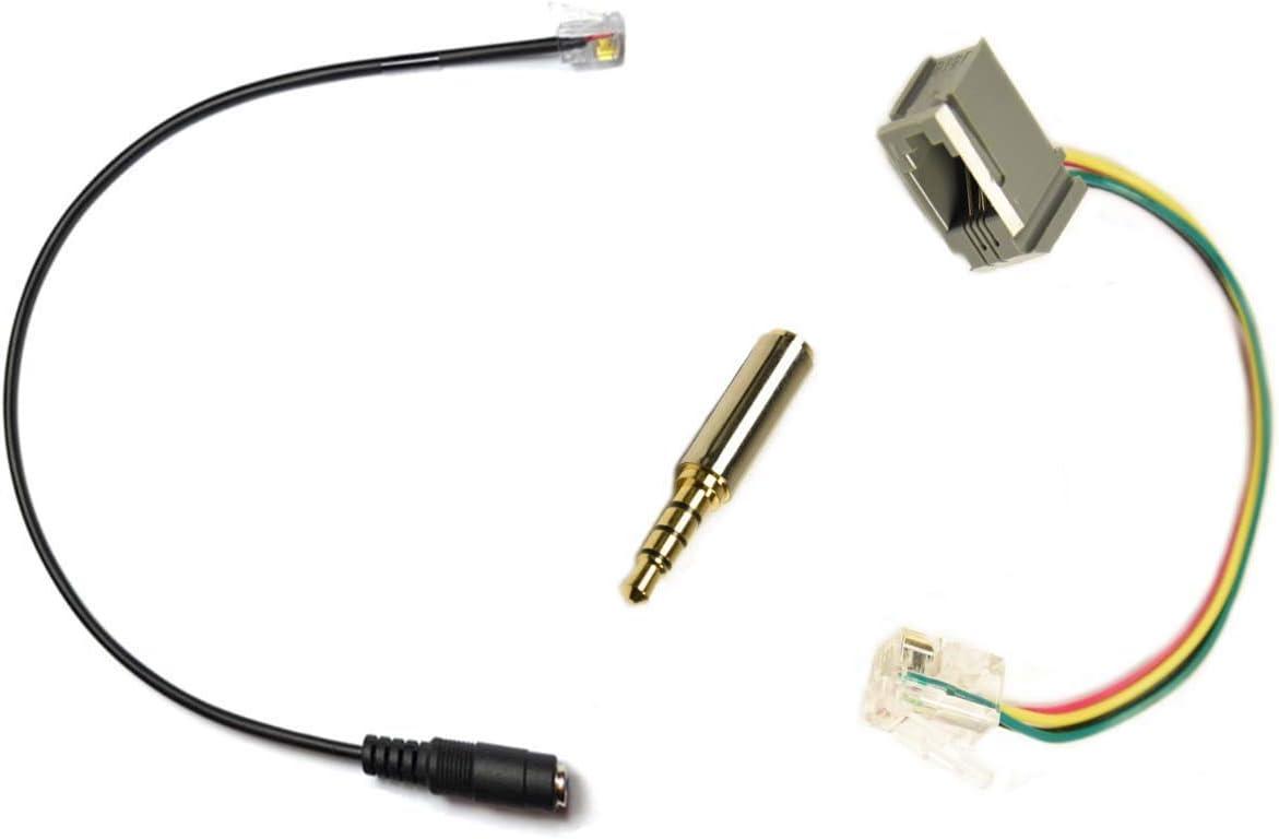 Cisco RJ Plug Headset Adapter Converter to 3.5mm CTIA Plug Apple iPhone Ipad iPod Stereo Headset Headphones (Cisco Brand Telephone 79XX ONLY, NOT for Cisco CP-XXXX Series)
