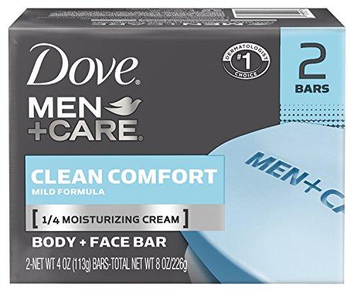 Dove Men + Care corps et visage Bar, propre confort 4 oz, 2 bars