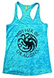Womens Mother Of Dragons II - Game of Thrones Tank Top Shirt - Funny Threadz Medium, Blue