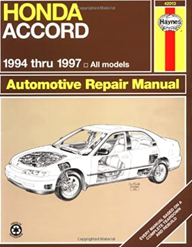 honda accord 94 97 haynes repair manuals haynes 9781563923234 rh amazon com 94 honda accord lx owners manual 1994 Honda Accord Manual PDF