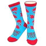 Apparel : I Heart You Socks - I Heart Guts - Novelty, Crazy, Funny, Boys Girls Womens Mens