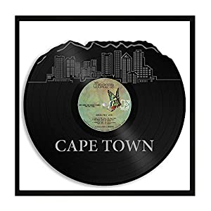 VinylShopUS - Cape Town South Africa Vinyl Wall Art Cityscape Vintage Decor with Frame