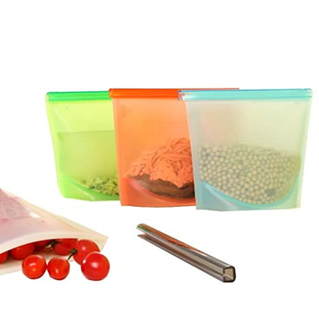 Bolsa de almacenamiento de silicona con escala 4 piezas ...