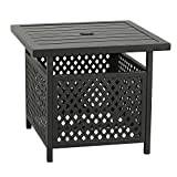 Patio Tree Outdoor Steel Umbrella Stand Side Table Patio Bistro Table Base with Umbrella Hole