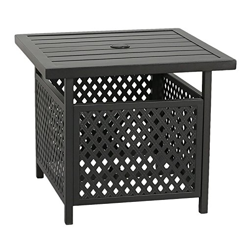 Patio Tree Outdoor Steel Umbrella Stand Side Table Patio