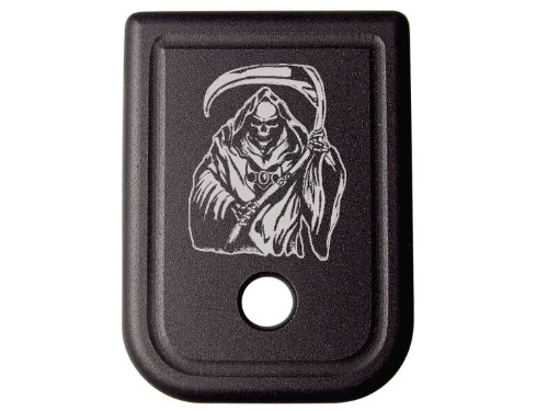for Glock 9MM .40 Gen 1-5 Floor Base Plate Black NDZ Grim Reaper 1