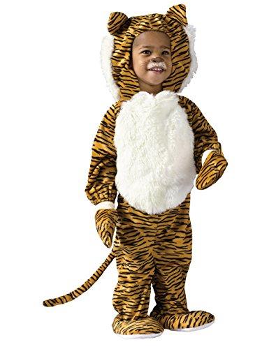 Tiger Costume Face Paint (Fun World Toddler Cute Tiger Halloween Animal Costume (24M))