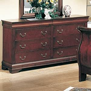 Louis Philippe Dresser in Cherry Finish by Coaster