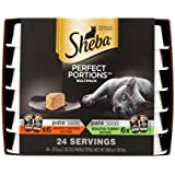 Sheba Perfect Portions Pate Multipack with Savory Chicken Entree and Roasted Turkey Entree Grain Free Wet