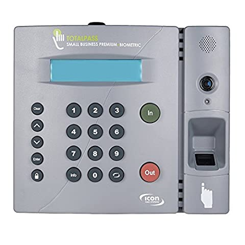 Icon Time System's TotalPass Small Business Premium  Biometric Time Clock (Office Small Business Premium)