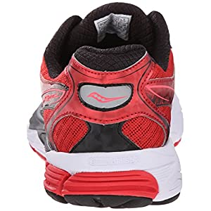 Saucony Women's Ride 8 Running Shoe, Red/Black, 7 M US
