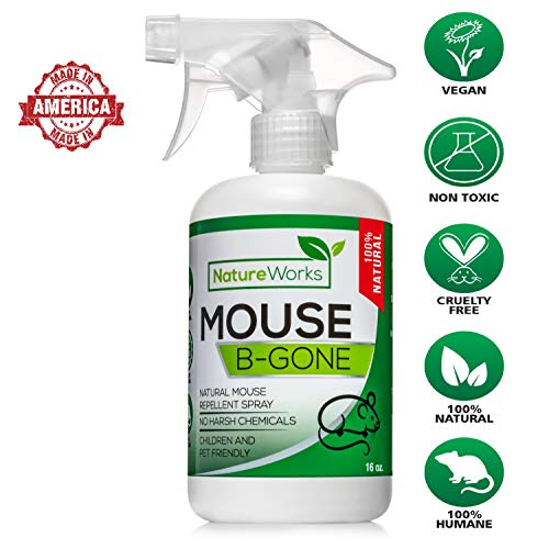 Mouse-B-Gone I Natural Rodent Repellent Spray I Mice Rat Squ