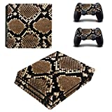 Scarlet Sails PS4 Pro Console and DualShock 4 Controller Skin Set - Anaconda Skin Style - Designer Skin Decal Vinyl Protective Stickers