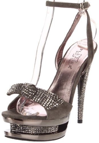 Suede Night Grey Chrome pewter D Day Donna amp; Pleaser Sandali qP4xB0wE