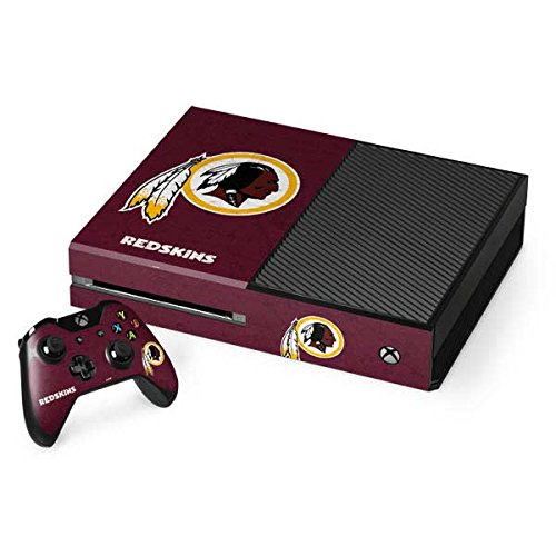 Xbox Washington Redskins Controller - Skinit NFL Washington Redskins Xbox One Console and Controller Bundle Skin - Washington Redskins Distressed Design - Ultra Thin, Lightweight Vinyl Decal Protection