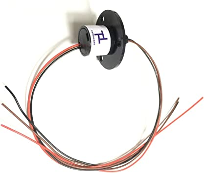 Taidacent 3 Wires 4 Wires 5A 10A 15A 30A Electrical Slip Ring Collector Ring Rotary Electrical Contact Joint Rotary Connector Commutator 4 Wires 30A Diameter 31mm