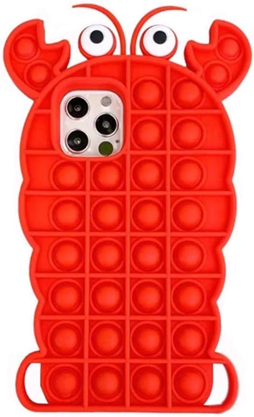 Interesting Lobsters-Red Case for iPhone 6 / 6s case Cover Reliver Stress Push Pop it Fidget Toys It Bubble for Antistress Cover Adult Children, Interesting Gifts for All Age