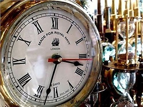 (Global Art World Beautiful Home Art Décor Made For Royal Navy London Vintage Time's Old Heavy Brass Maritime Ship Clock WC 07)