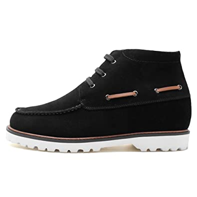 b81b5c9a314c CHAMARIPA Chukka Elevator Boots Height Increasing Winter Shoes for Man- Taller 2.76 inches 7